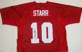 BART STARR SIGNED ALABAMA CRIMSON TIDE JERSEY WITH FAMOUS INK COA