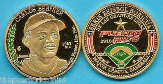 CARLOS BERNIER Juana Diaz 6/20 Serie TOLETEROS PUERTO RICO MLB