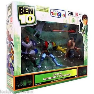 Ben 10 Exclusive 4 Inch Action Figure 3Pack Vilgax, Aggregor, Vulkanus