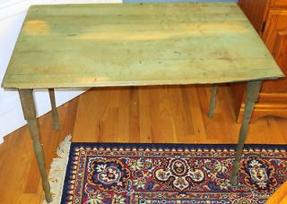 Antique COUNTRY FARM {1900s} Sewing Table Folding Spindle Legs SOLID