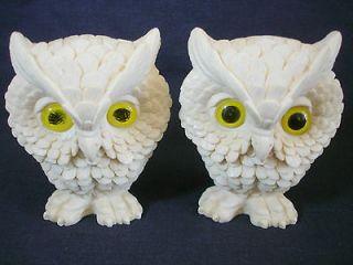 VTG A. SANTINI OWL Italian Marble Alabaster Resin Sculpture Figurines