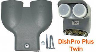 Dish Network DPP Twin LNB & Y Yoke Plastic Bracket Adapter 110 119 Pro