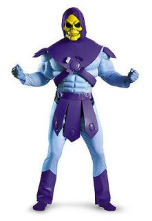 He Man Skeletor Classic Muscle Chest Jumpsuit Costume Adult *New*