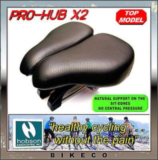 HOBSON PRO HUB X2 COMFORTABLE GEL BIKE BICYCLE SADDLE ERGONOMIC DUAL