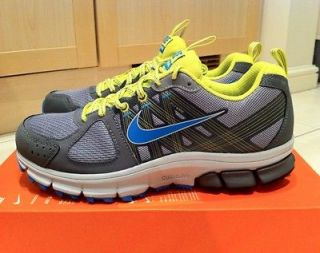 NIKE AIR PEGASUS+ 28 TRAIL COOL GREY BLUE ELECTRO LIME 2012 MAX UK 6.5