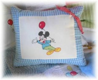 Vintage Mickey Mouse chenille baby quilt crib bedding