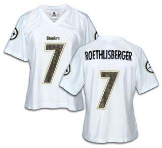 Reebok Pittsburgh Steelers NFL BEN ROETHLISBERGER #7 Womens Dazzle