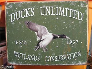 DUCKS UNLIMITED TIN SIGN / MADE IN THE U.S.A. [NEW]