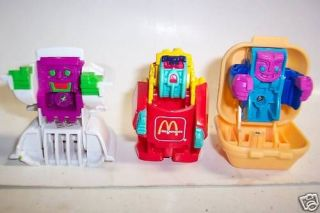 "Vintage ""Food Changeable"" McDonalds Happy Meal Transfor"