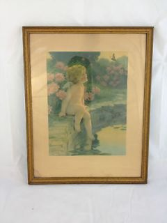 ORIGINAL FRAME BESSIE PEASE GUTMANN NY THE BUTTERFLY 1920S FINE ART