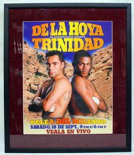 OSCAR DE LA HOYA, FELIX TRINIDAD SIGNED POSTER PSA/DNA