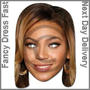Beyonce Pop Diva Film Actress Face Mask Fancy Dress