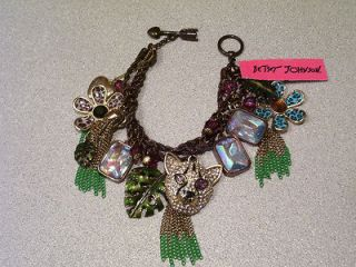 Betsey Johnson Jungle Fever Leopard Toggle Bracelet