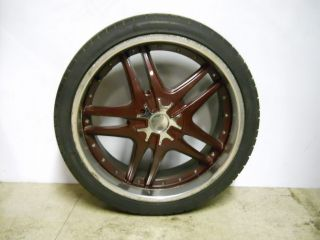 22 22 inch Rims Tires burgundy chrome 5 lug 265/35 r22 Custom Cheap