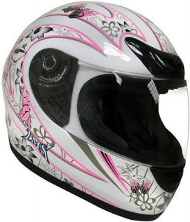 Butterfly Motorcycle Full Face Helmet Street Bike Scooter DOT S,M,L