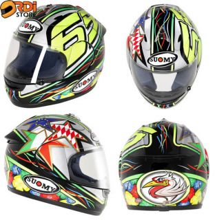 Capirossi Replica ~ Suomy Excel Full Face Motorcycle Helmet DOT ECE