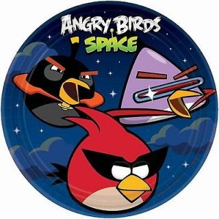 ANGRY BIRDS SPACE ~(8) Large LUNCH or DINNER Plates 9 ~ Birthday