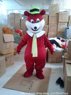 Yogi Bear Mascot Costume Fancy Dress Outfit EPE