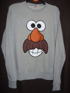 BNWT HASBRO MR POTATO HEAD CARTOON CHARACTER MENS LONG SLEEVED TOP