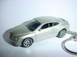 NEW SILVER 2006 BENTLEY GT CONTINENTAL CUSTOM KEYCHAIN fob KEY ring