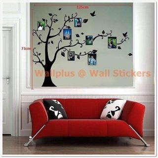 Birds Vine Tree Photo Frame Wall Stickers art Mural Children Decor