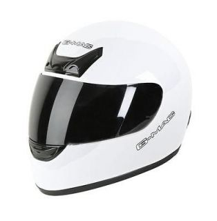 Maxx Motorcycle Helmet Small White Bike Crash Lid‏ Scooter ACU Gold