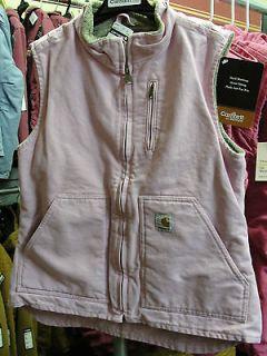 Carhartt Womens Sandstone Mock Neck Vest WV001 Rose Pink