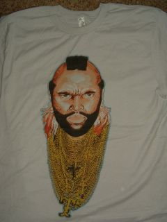 New A Team Tv Show Mr T Close up Gold Chains T Shirt