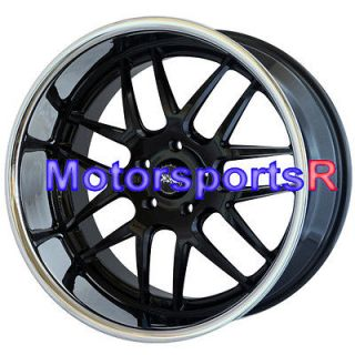 XXR 526 Black Polished Lip Rims Staggered Wheels 5x120 BMW 08 650I
