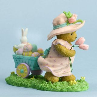 CHERISHED TEDDIES Christmas Figurine Easter Bunny Eggs 4030794 ON A