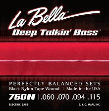 La Bella 760N Black Nylon Tapewowunds Strings Brand New!!