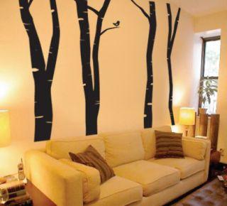 Wall Vinyl Decal Sticker Forest Birch Tree 80
