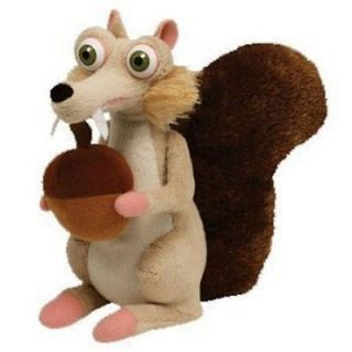 SCRAT SQUIRELL PLUSH SOFT TOY ICE AGE 4 BNWT CONTINENTAL DRIFT NUT