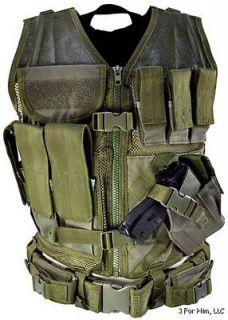 NcStar Tactical Vest Green Regular Military Special Forces Swat Police