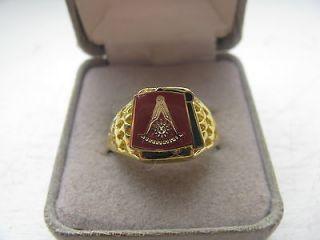 Superb New Masonic Past Master Crest Gold Ring