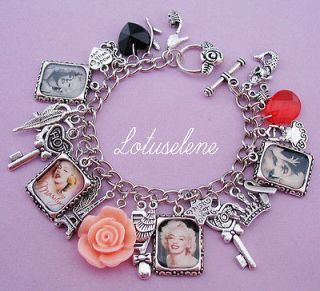 ♥Vintage♥ Photo Picture Image Charm Bracelet Birthday Gift Unique