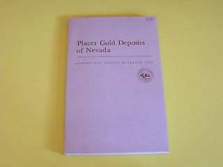 Placer Gold Deposits of Nevada Maureen Johnson Geological Survery
