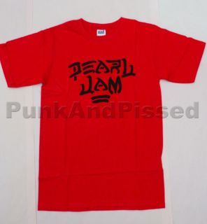 Pearl Jam   Destroy Red t shirt   Official   FAST SHIP
