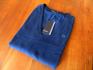 NEW GENUINE Fred Perry Womens Navy Blue School Jumper   RRP £90