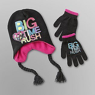 BiG TiMe RUSH NICKELODEON Girls BEANIE HAT & GLOVES W/ TAGS World