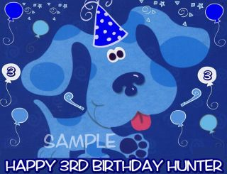 BLUES CLUES FROSTING SHEET EDIBLE CAKE TOPPER IMAGE DECORATIONS