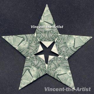 Dollar Bill Origami STARS Many Designs   Great Gift Star of David