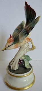 Pottery 1930s Colorful Jay Bird Figurine Guido Cacciapuoti Gorgeous