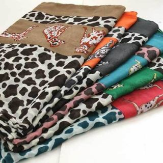 A531 dalmatian dog pet animal printed SCARF BIG SIZE New shaw soft