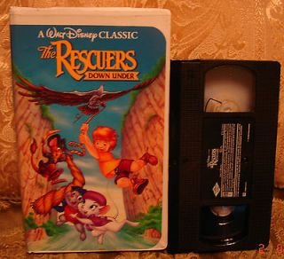 BD CLASSIC The Rescuers Down Under Vhs Video Black Diamond VGC