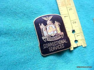 NY New York State Correctional Services Mini Corrections Patch Badge