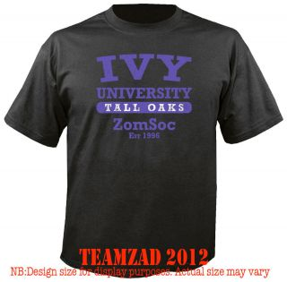 Evil 6 Ivy Zombie Society PS3 Xbox XBOX360 Black ops COD T SHIRT