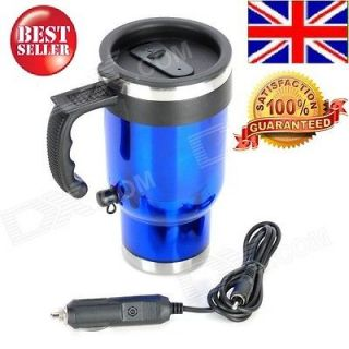 2013 Car Cigarette Lighter Powered Electric Water Heater Bottle   Blue