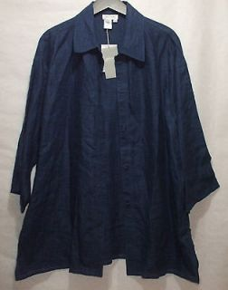 Spirit by Coldwater Creek Blouse Button Front Shirt Womens Large NEW