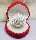 Sterling Silver Fashion Jewelry Preciosa Crystal Ball Pendant   23 mm